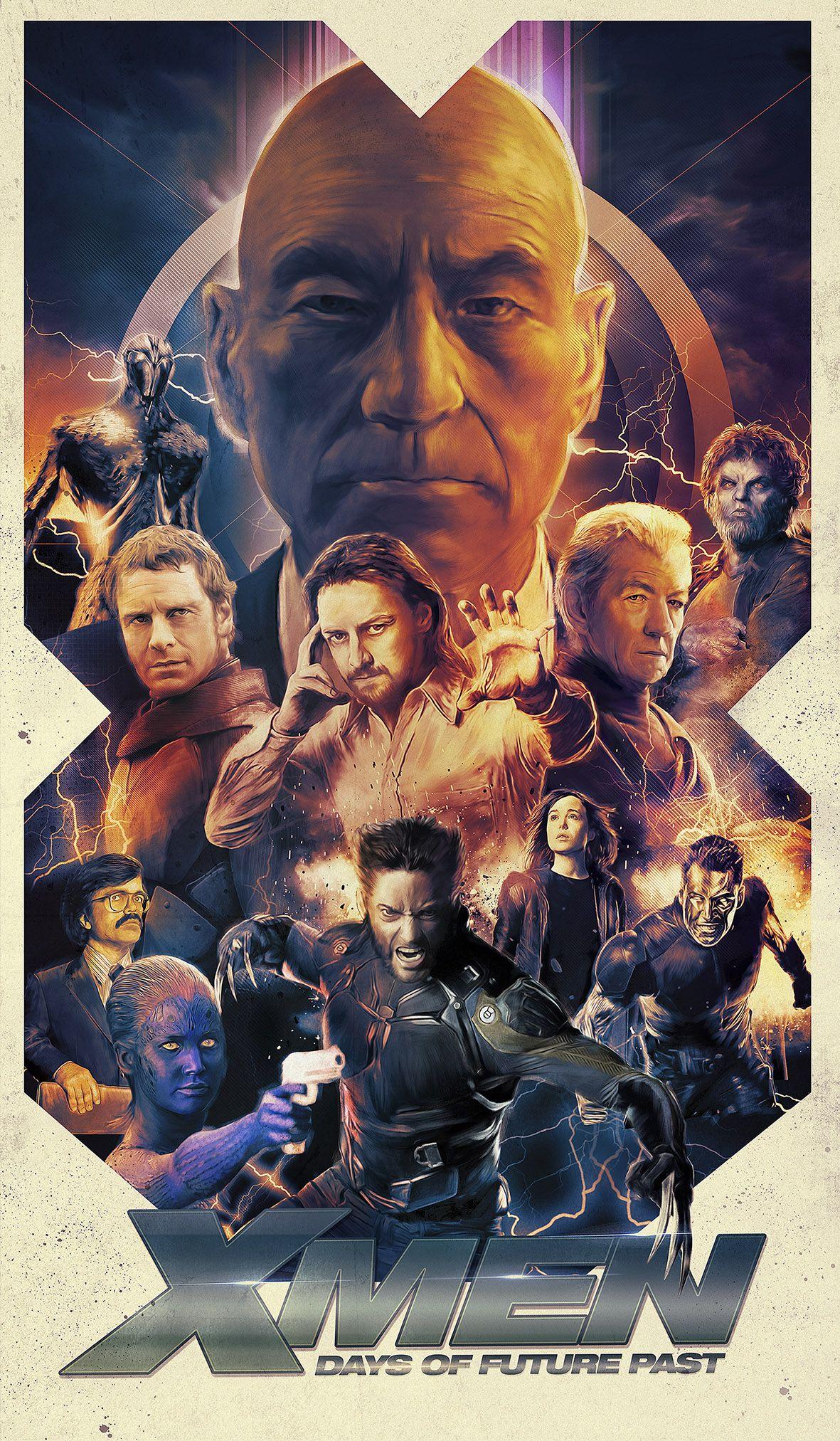Richard Davies Days Of Future Past Jpg Filmplakate X Men Avengers