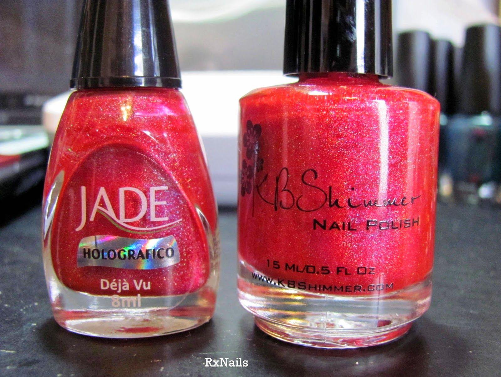 Comparison: Jade Deja Vu VS KBShimmer Whole Lava Lovin - RxNails ...