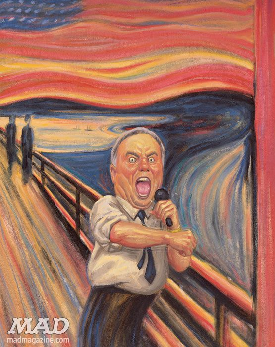 "The Scream | MAD's Parodies of Edvard Munch's ""The Scream"" 