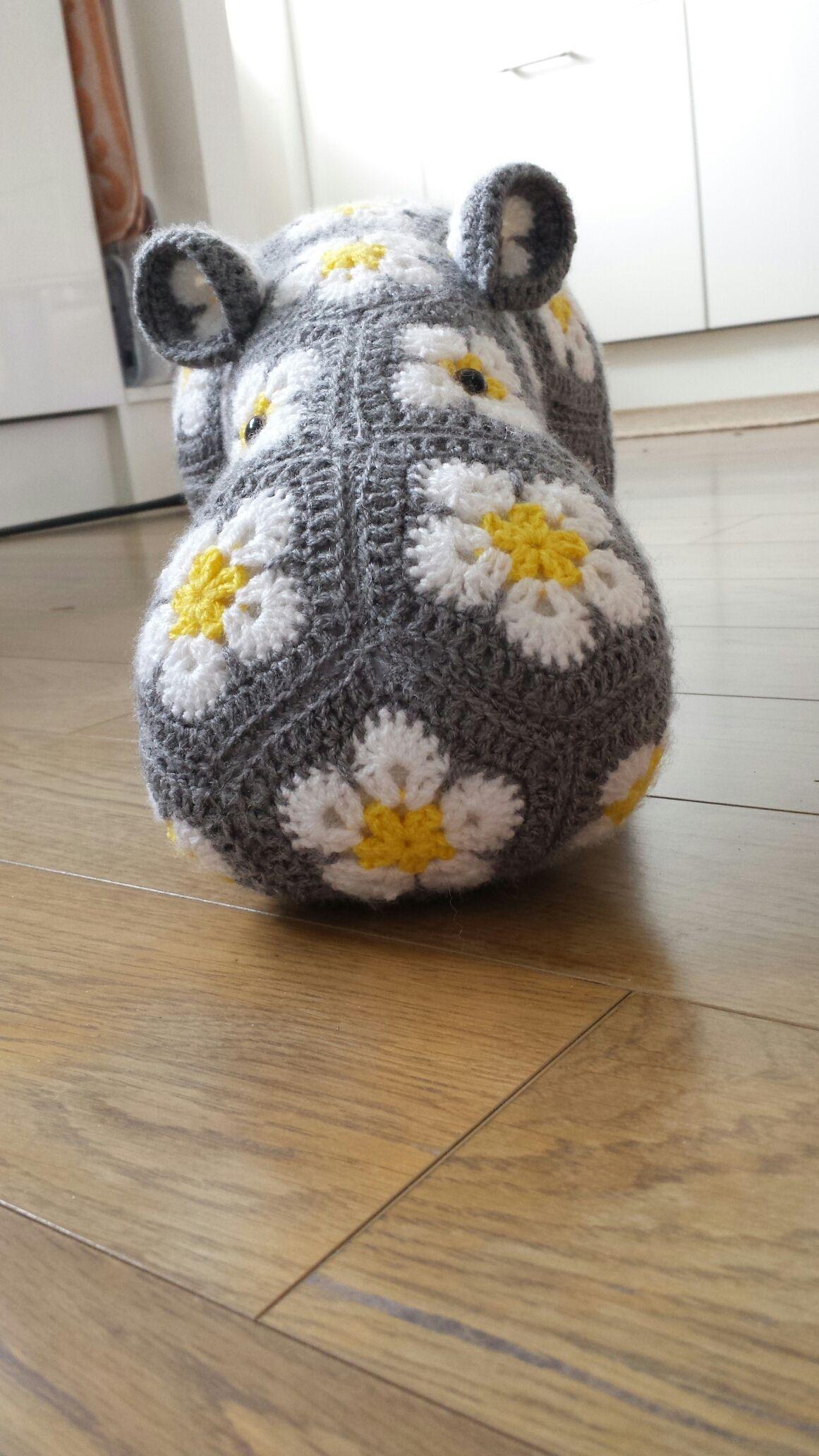 African flower hippo | Yarn | Pinterest | Gehäkelte tiere ...