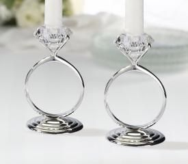 Diamond Ring Candle Holders