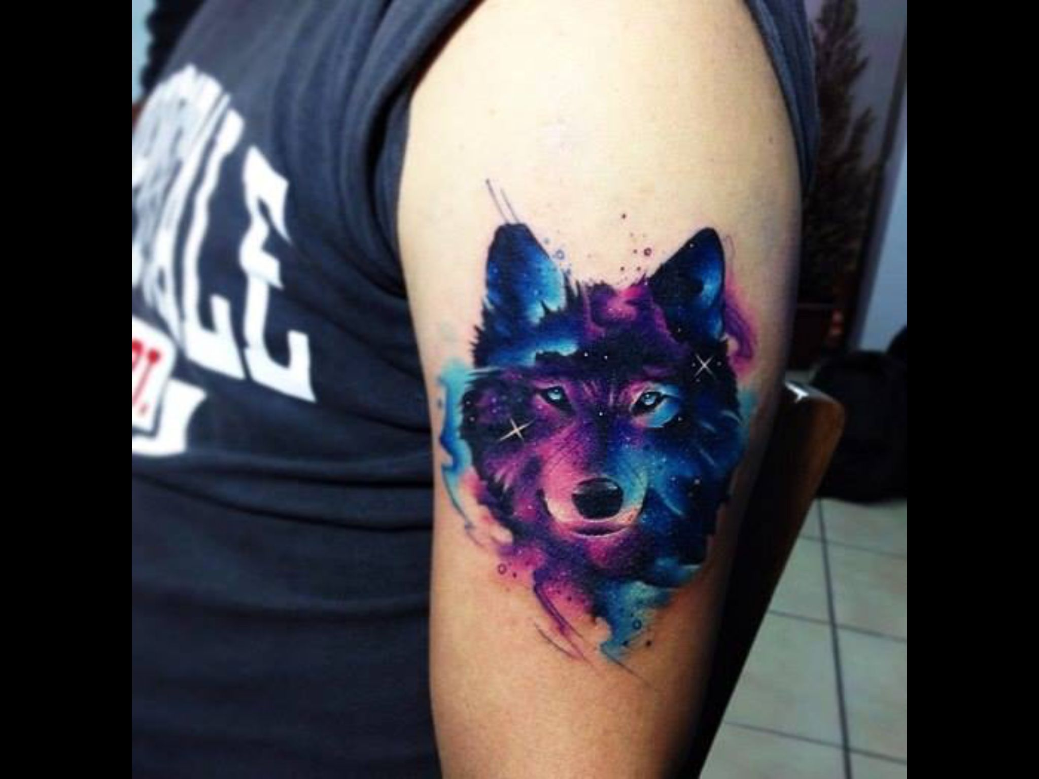 Tattoos Image By Ladymeyesi On Inked Body Art Watercolor Wolf