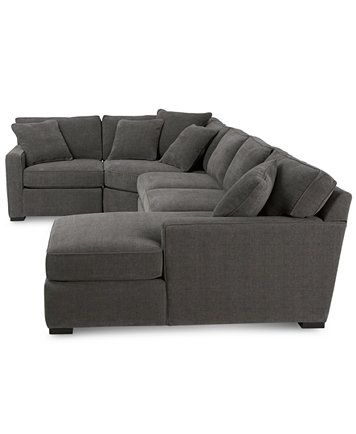 Radley 4-Piece Fabric Chaise Sectional Sofa | macys.com  sc 1 st  Pinterest : macys chaise - Sectionals, Sofas & Couches