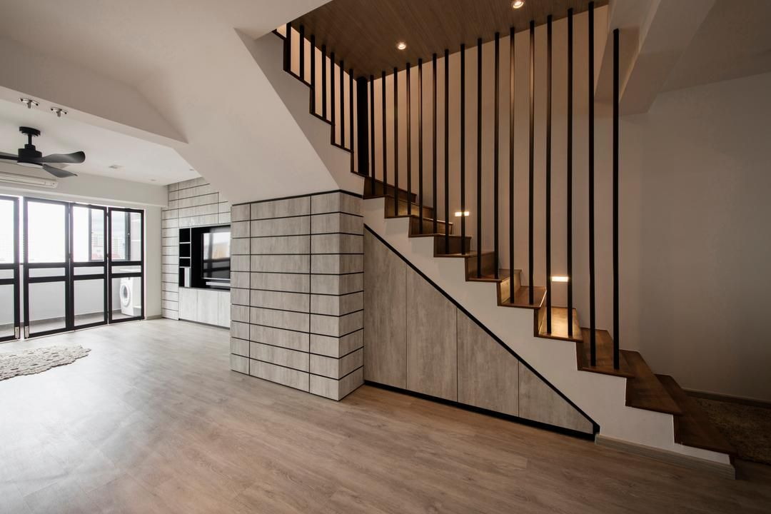 Best Pipit Road Kdot Minimalistic Living Room Hdb Staircase Stairs Maisonette In 2019 400 x 300