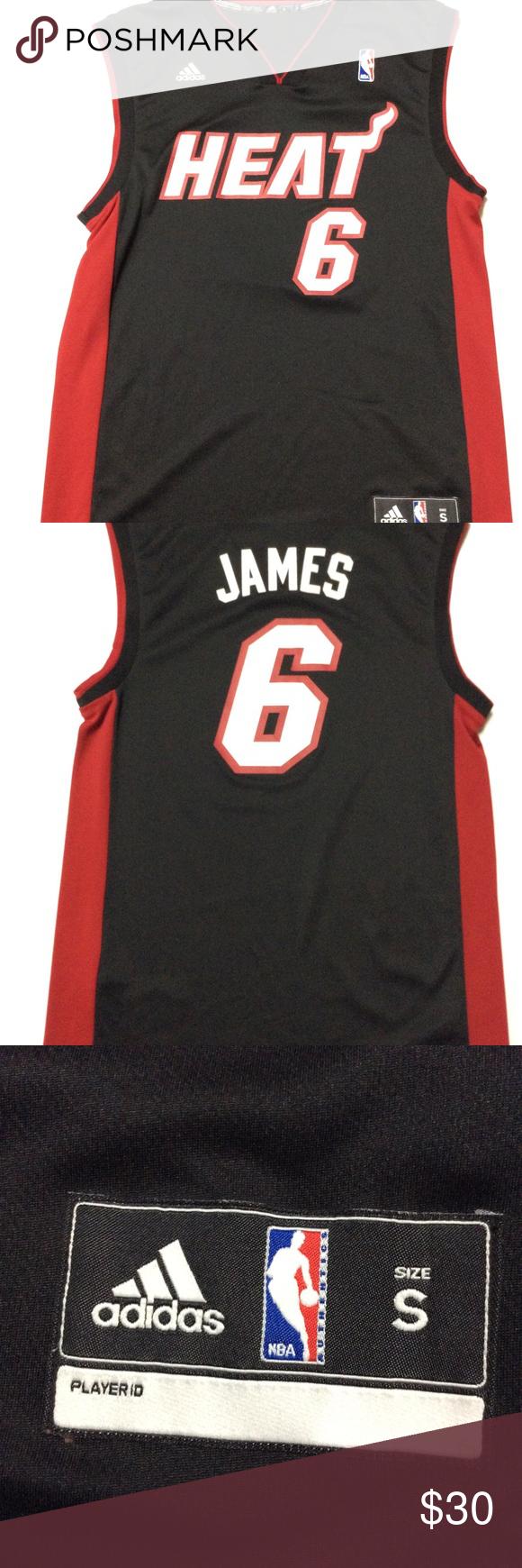 online retailer 7824a 91beb Adidas NBA Miami Heat Jersey small #6 Lebron James black ...