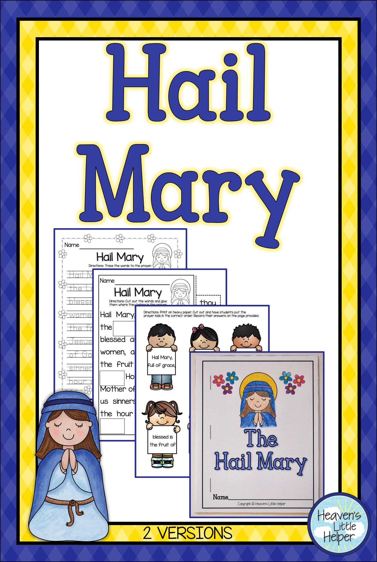 Catholic Religion Hail Mary Prayer   Psr   Pinterest