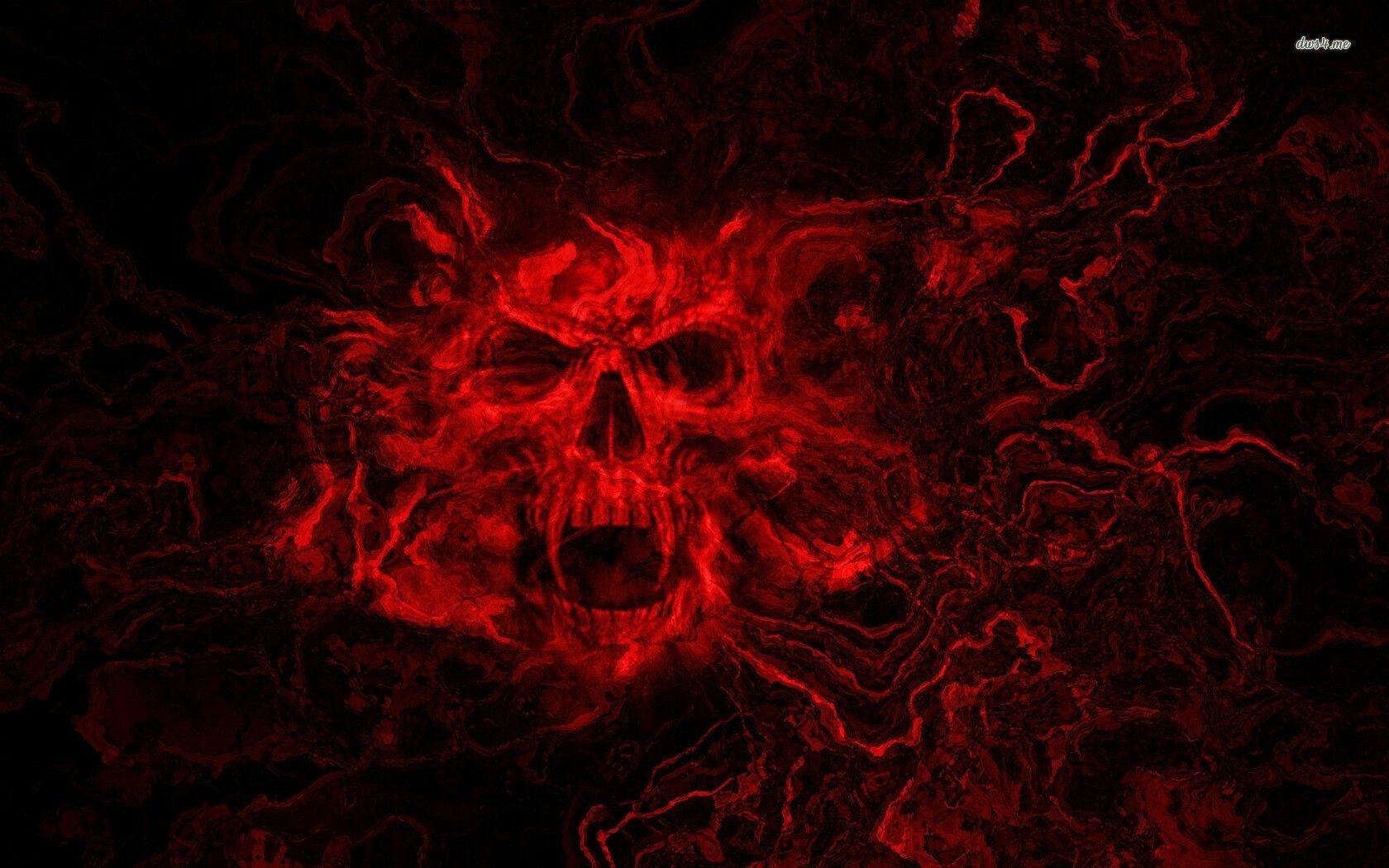 Black And Red Skull Wallpaper Black Skulls Wallpaper Skull