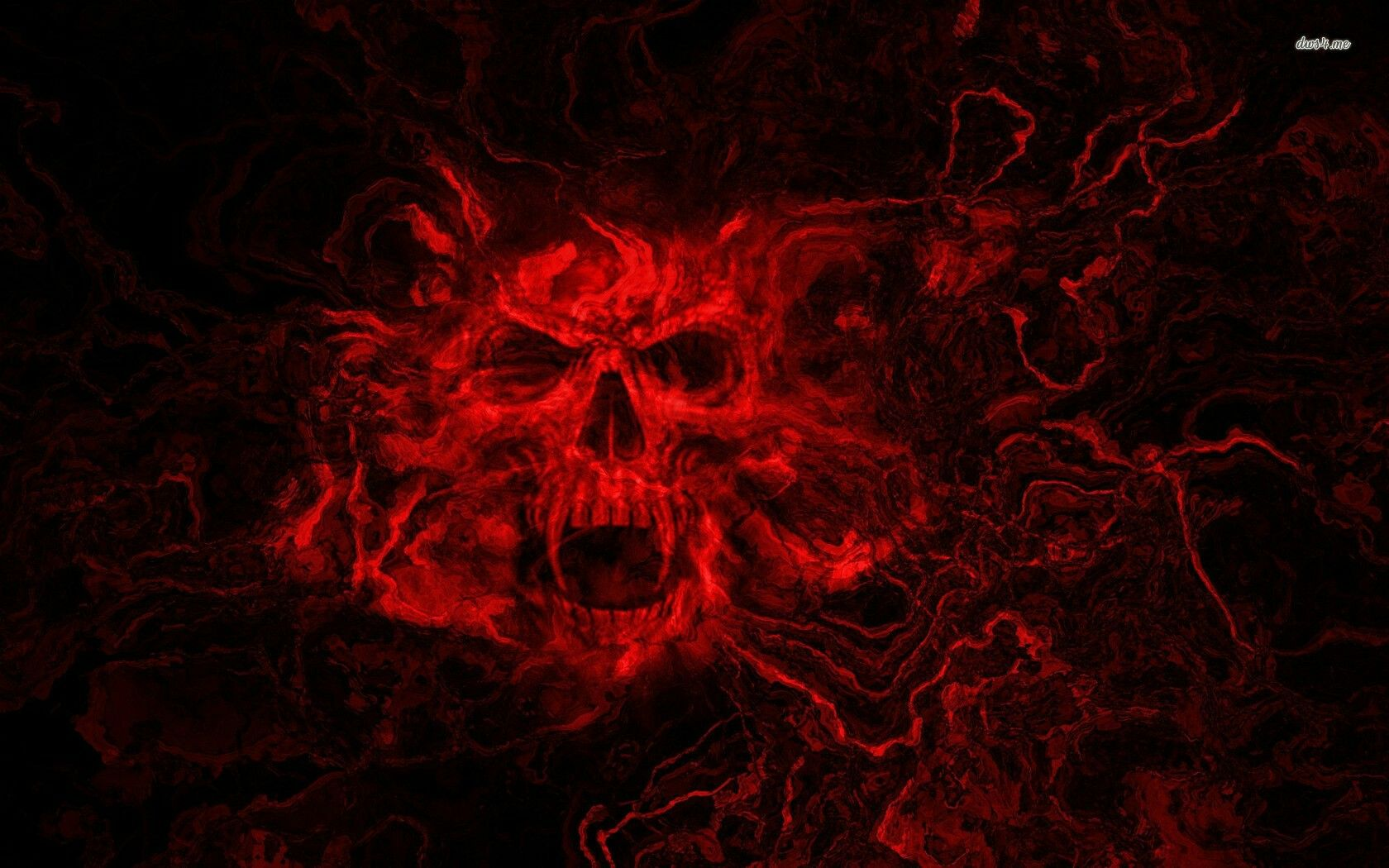 Pin By Pam On Striking Red Black Skulls Wallpaper Skull Wallpaper Skull Pictures