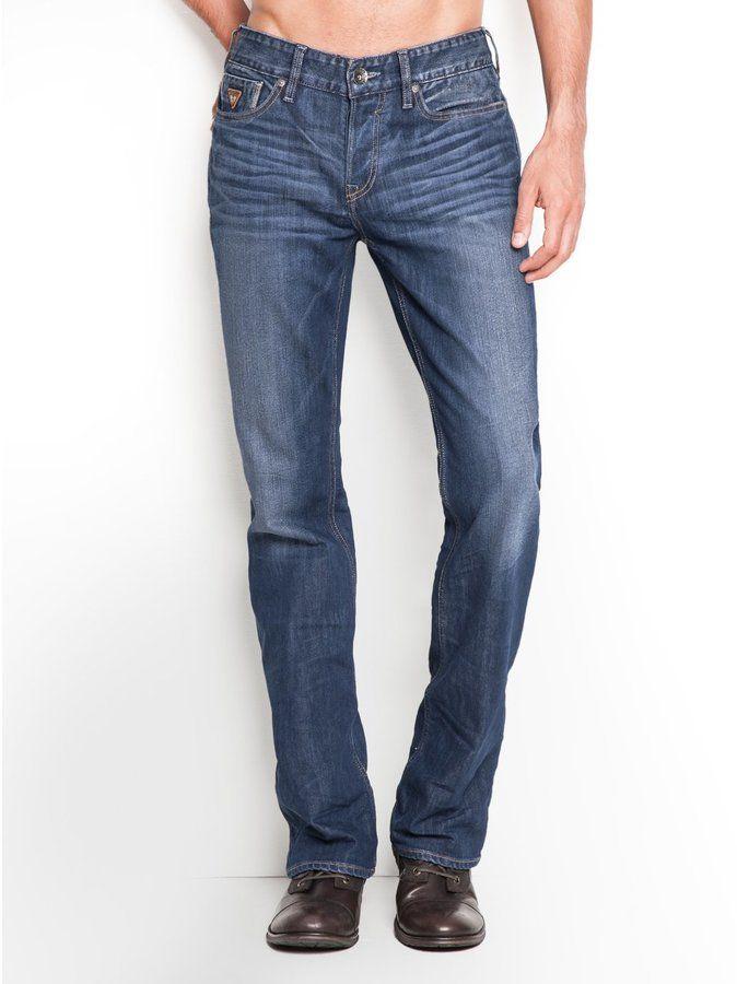 e0a18b19df9 GUESS Men's Falcon Classic Bootcut Jeans in Walker Wash, 32 Inseam ...
