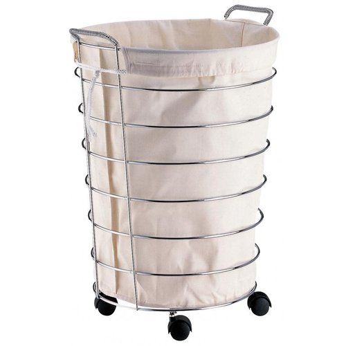 Neu Home Rolling Laundry Basket With Liner Walmart Com Rolling