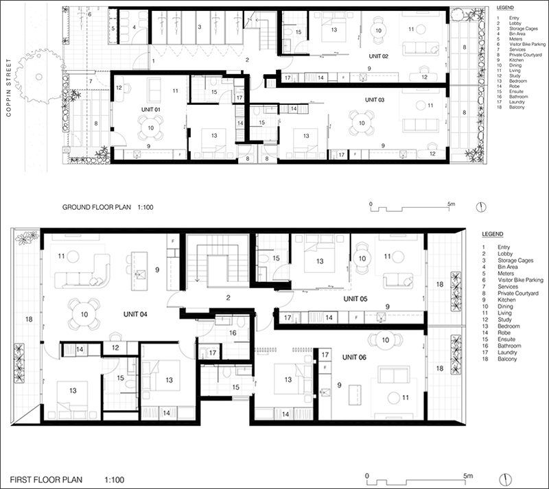 Coppin Street Apartments By Musk Studio Small Apartment Building Contemporary House Plans Apartment