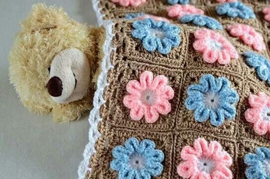 Cobijita flor | cositas crochet | Pinterest