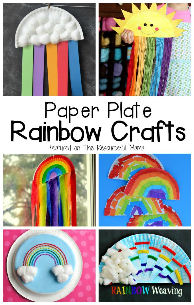 Paper Rainbow Craft Letstrythisathome Playgroup Rainbow Crafts