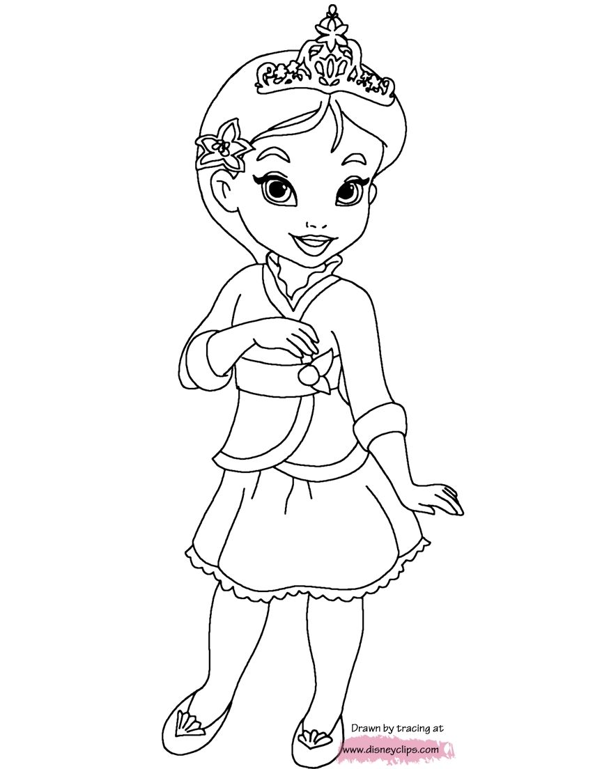 Mulan Coloring Page Toddler