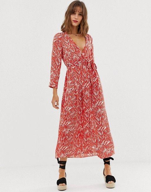 the best attitude sale retailer best supplier Vero Moda - Robe cache-cœur mi-longue à fleurs | wish in ...