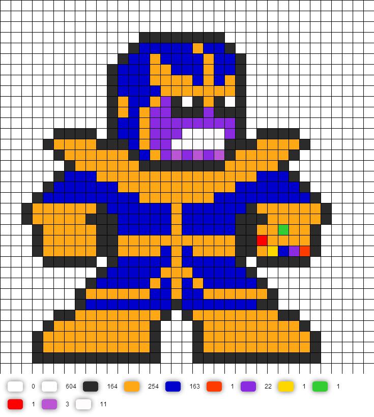 Thanos Marvel Perler Bead Pattern Bugelperlen Vorlagen Perler