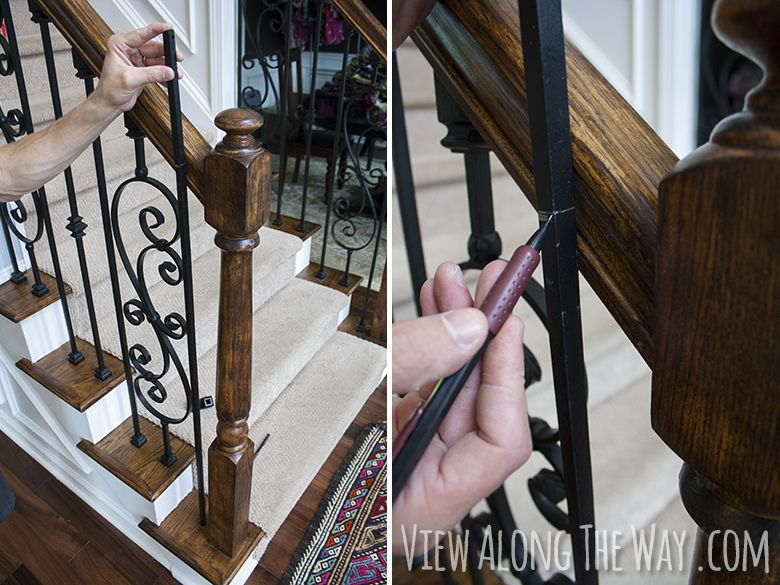 How To Install Iron Balusters Wonder If The Process Is Similar | Installing Metal Balusters Wood Railing | Stair Treads | Deck Railing | Iron Baluster | Iron Stair Spindles | Stair Rail