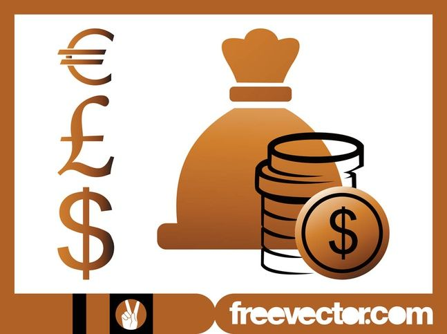 Financial Icons Graphics Money And Wealth Vector Graphics Of