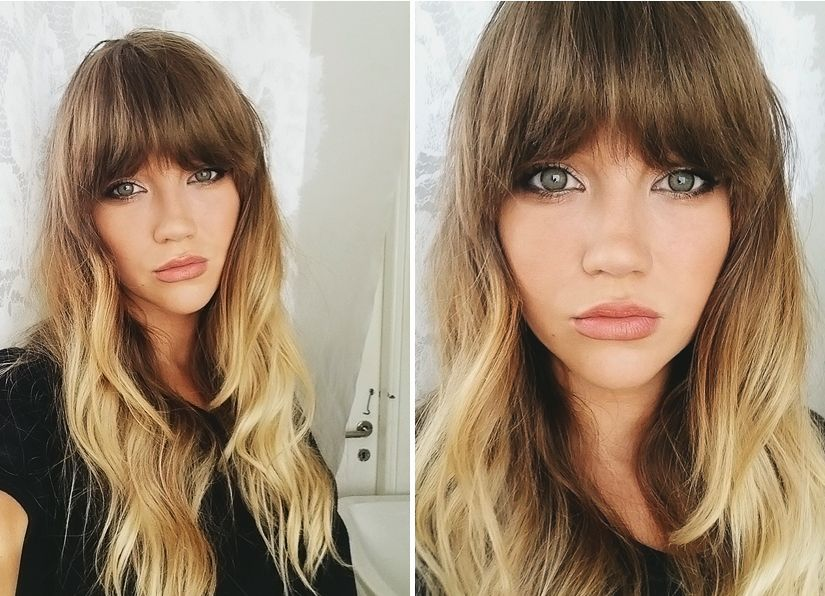Long Hair With Bangs And Ombre
