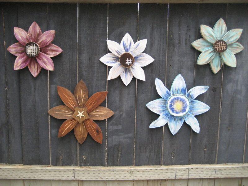 Wooden Flower Wall Decor Workshop Indoor And Outdoor Decoration