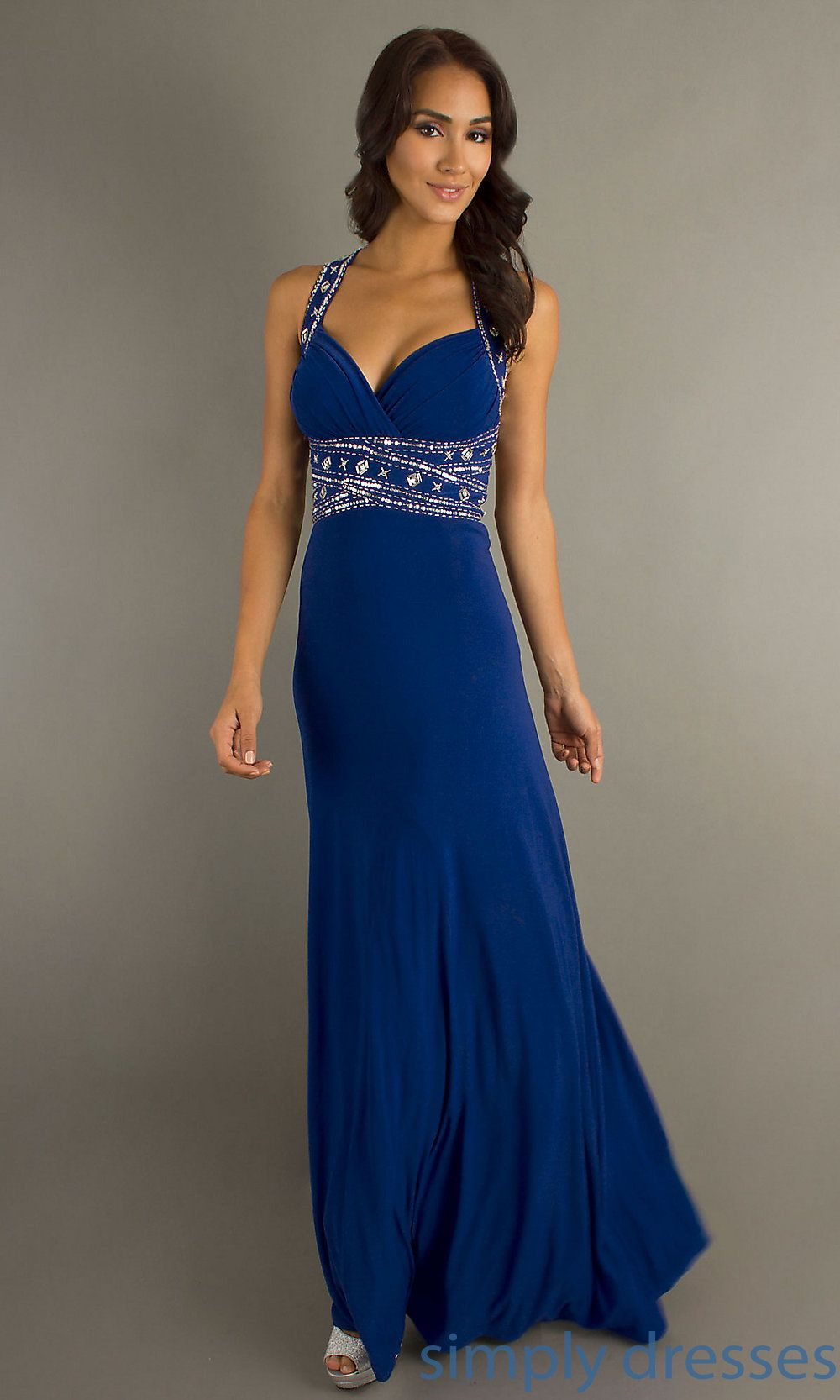Dq floor length dress with embellished waist shops prom