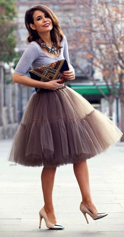 f50f9c4c3 Conoce cómo usar las faldas de tul | moldes | Faldas de tul, Faldas ...