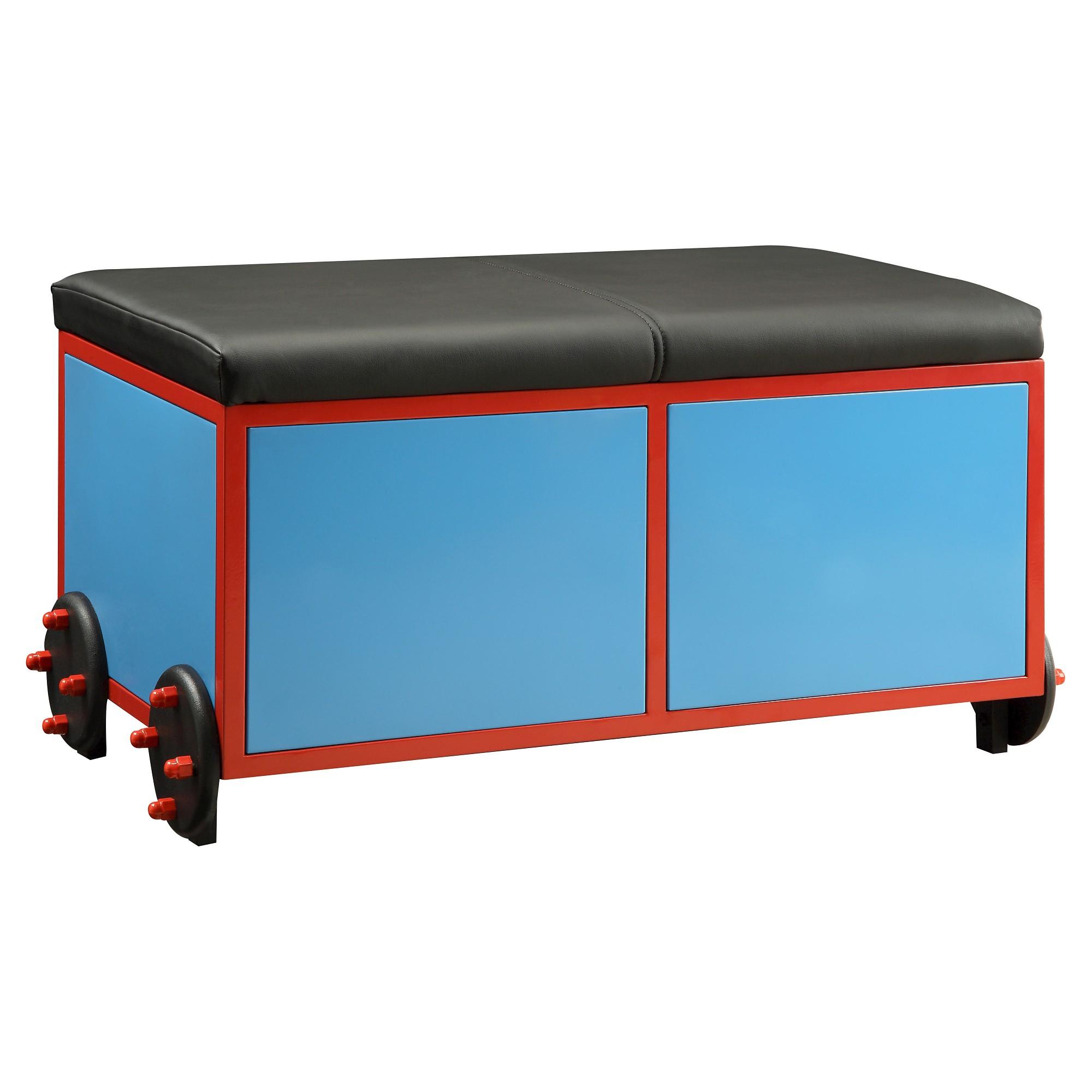 Tobi kids train bench with storage blue acme pinterest products