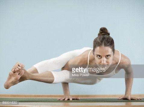 Stock-Foto : Yoga practitioner in pose