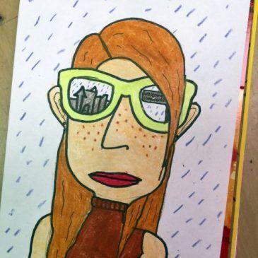 Summer Sunglasses Self Portrait | Fifth Grade | Self