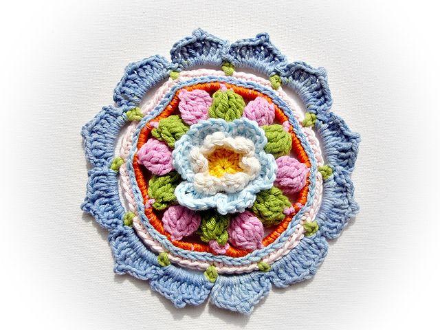 crochet rosette 06 pattern by maria manuel geh kelte blumen h keln und h ckeln. Black Bedroom Furniture Sets. Home Design Ideas