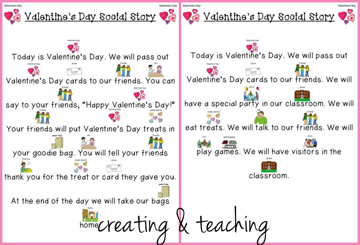 Valentine S Day Social Stories Free