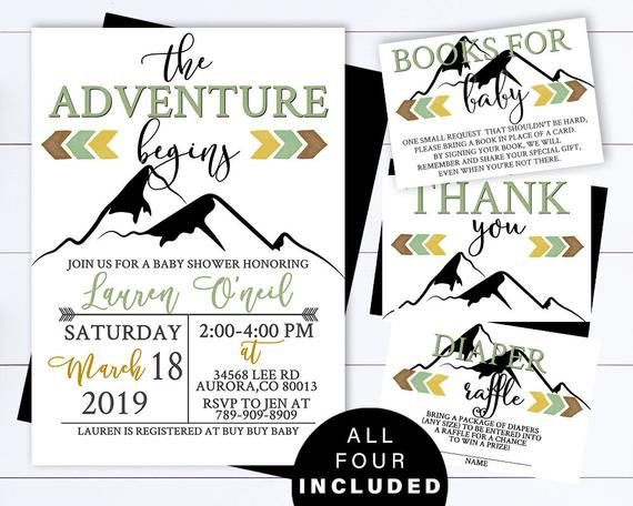 Adventure Awaits Baby Shower Invitation Template Adventure Baby Shower Invitation Adventure Begins Baby Shower Invitation Mountain Adventure Baby Shower Invitations Baby Shower Invitation Templates Shower Invitations
