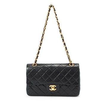 Sac A Main Matelasse Chanel En Cuir Noir Bags Pinterest Sac A