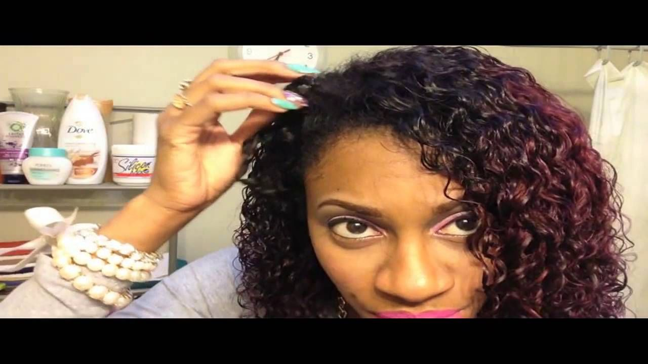 Blending Relaxed Hair W Curly Weave Ft She Hair Aliexpress