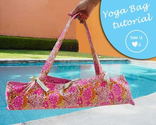 Easy yoga mat bag pattern. It has an inner pocket for my keys ...