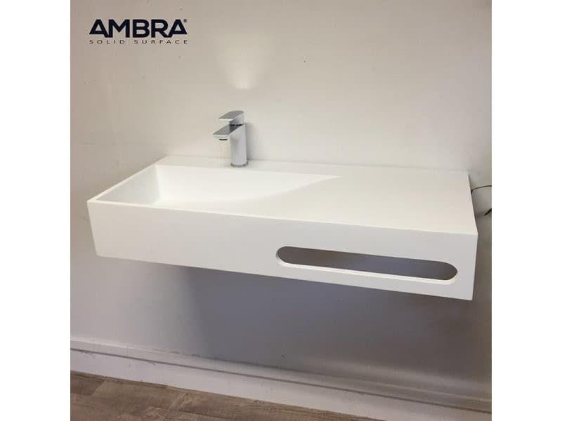 Vasque Suspendue 90 Cm En Solid Surface Granada Vente De Ambra Conforama Vasque Suspendue Vasque Solid Surface