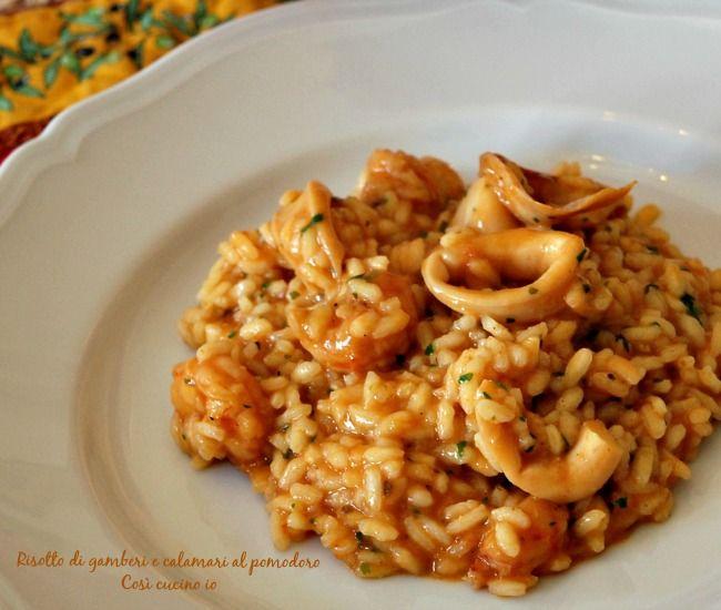 Risotto di gamberi e calamari al pomodoro ricetta primi for Ricette italiane primi piatti