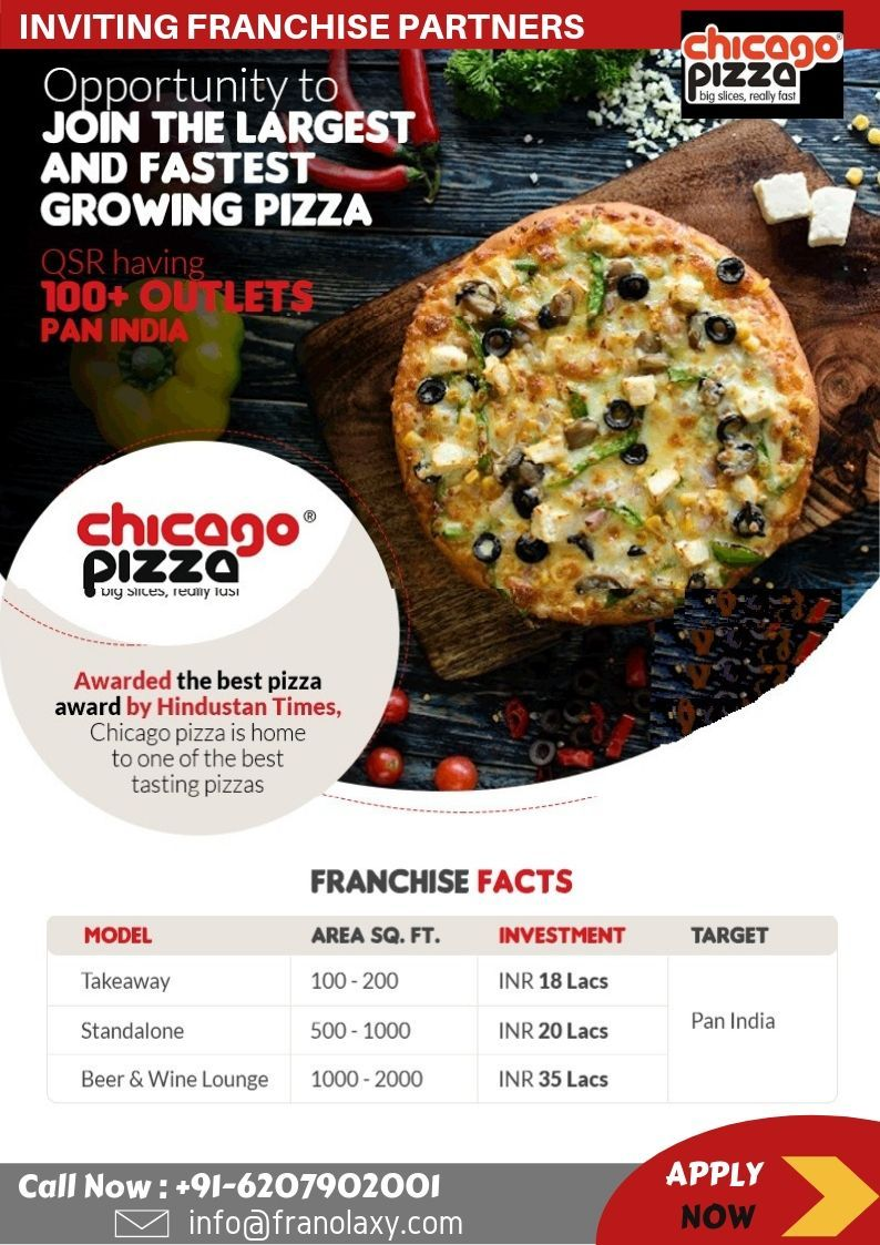 Chicago pizza franchise opportunity in india