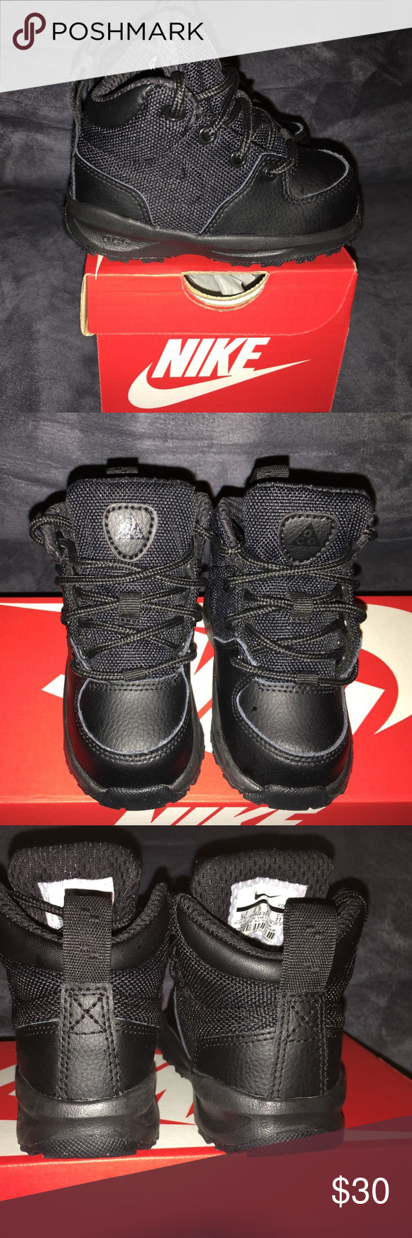 wholesale dealer 6ab9f 3dcf9 Nike ACG Boots Nike ACG Boots. All black, lightweight, good for the snow or  any time. Worn once! Nike Shoes Boots