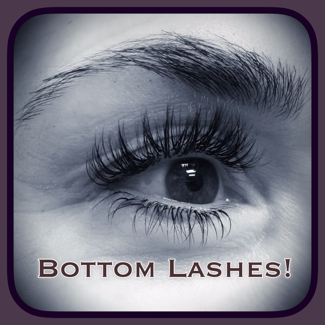 Semi Permanent Eyelash Extensions on top and bottom lashes! NOT ...