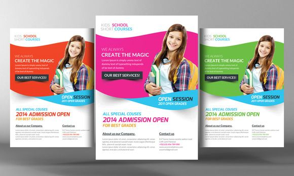 Kids School Flyer Template by Business Templates on Creative Market