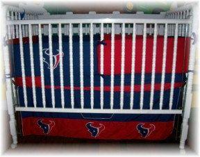 Houston Texan Crib set 4pc by dreammakersdesign