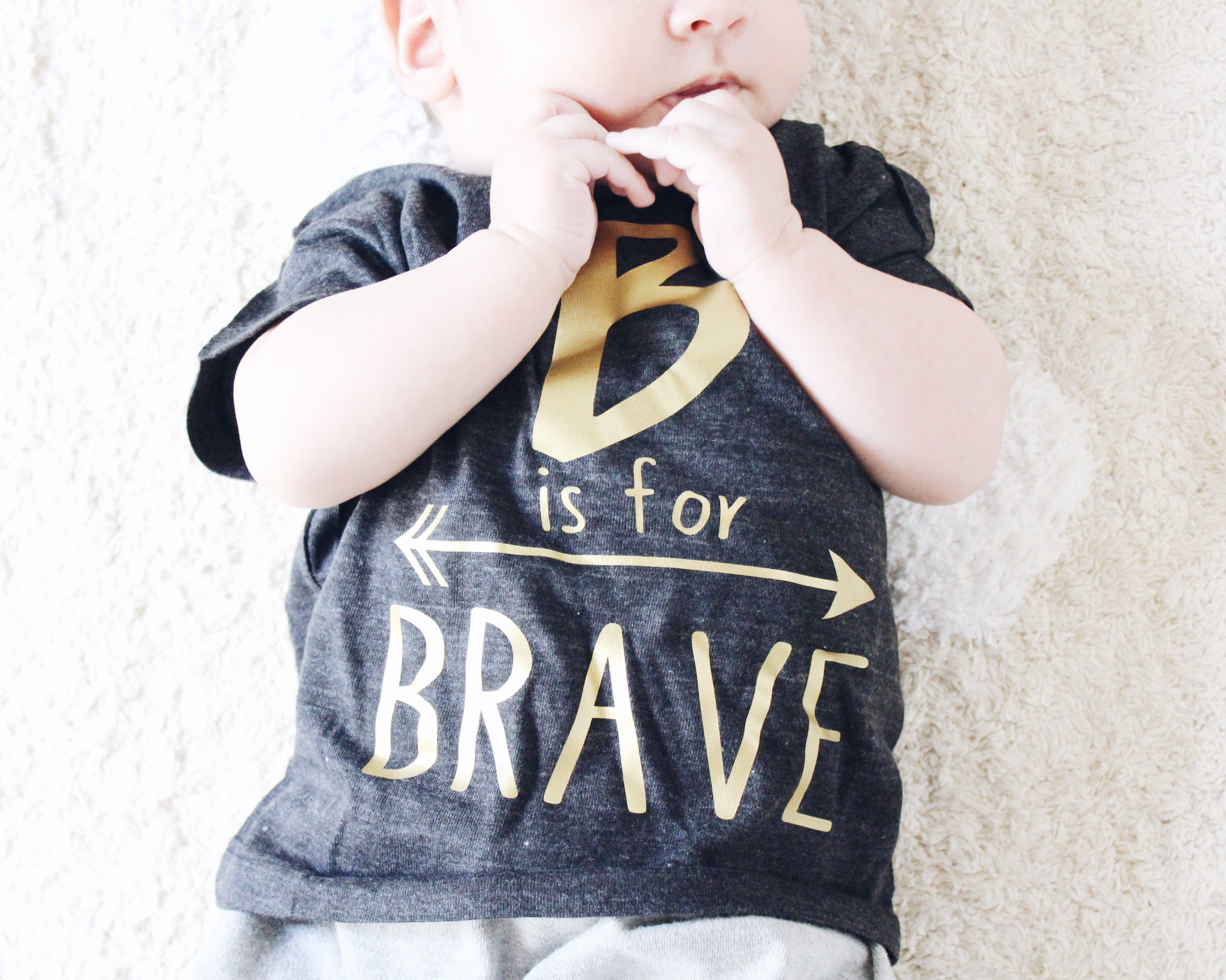 b is for brave - the blue envelope - tbe apparel - craniosynostosis