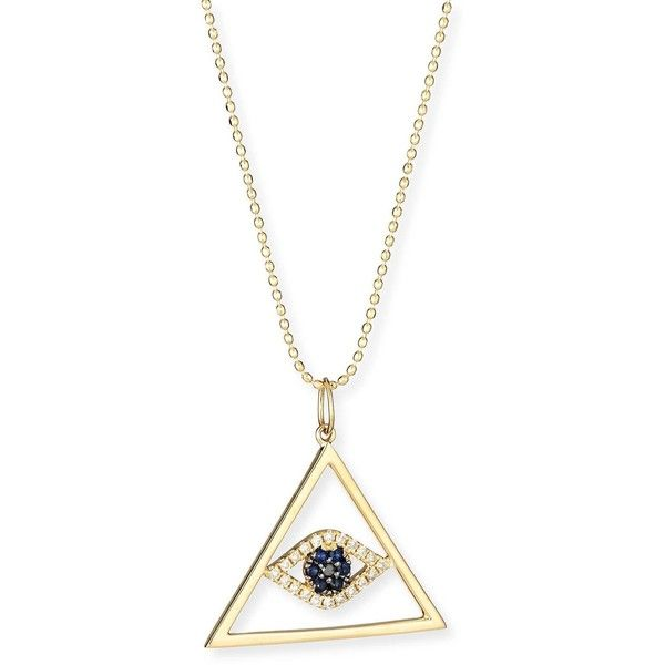 Sydney Evan Pyramid Evil Eye necklace - Metallic NgPzl