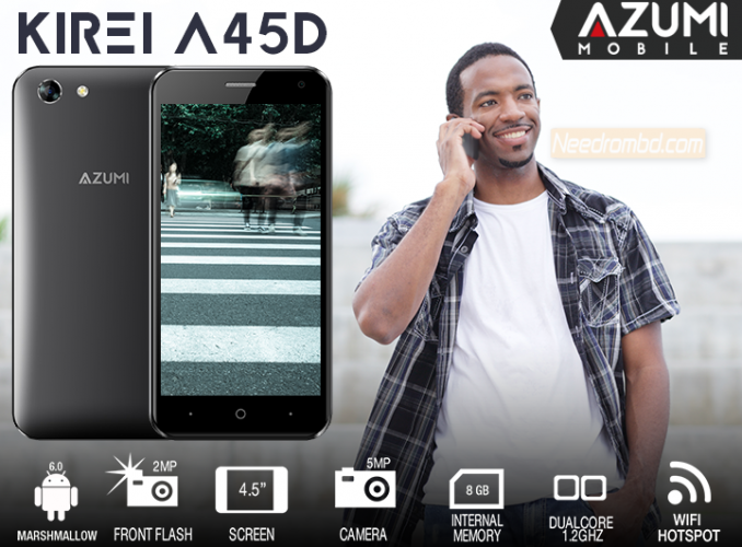 Azumi Kirei A45D Firmware MT6570 Android 6 0 | Smartphone