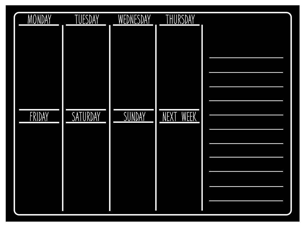 Robot Check Chalkboard Wall Calendars Wall Calendar Weekly Wall Calendar