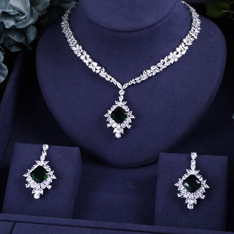 Jankelly Luxury 2pcs Bridal Zirconia Jewelry Sets For Women Party Lux Chicmaxonline Crystal Wedding Jewelry Wedding Jewelry Earrings Wedding Jewelry Sets