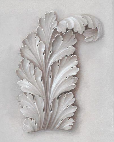 Painted trompe l'oeil acanthus