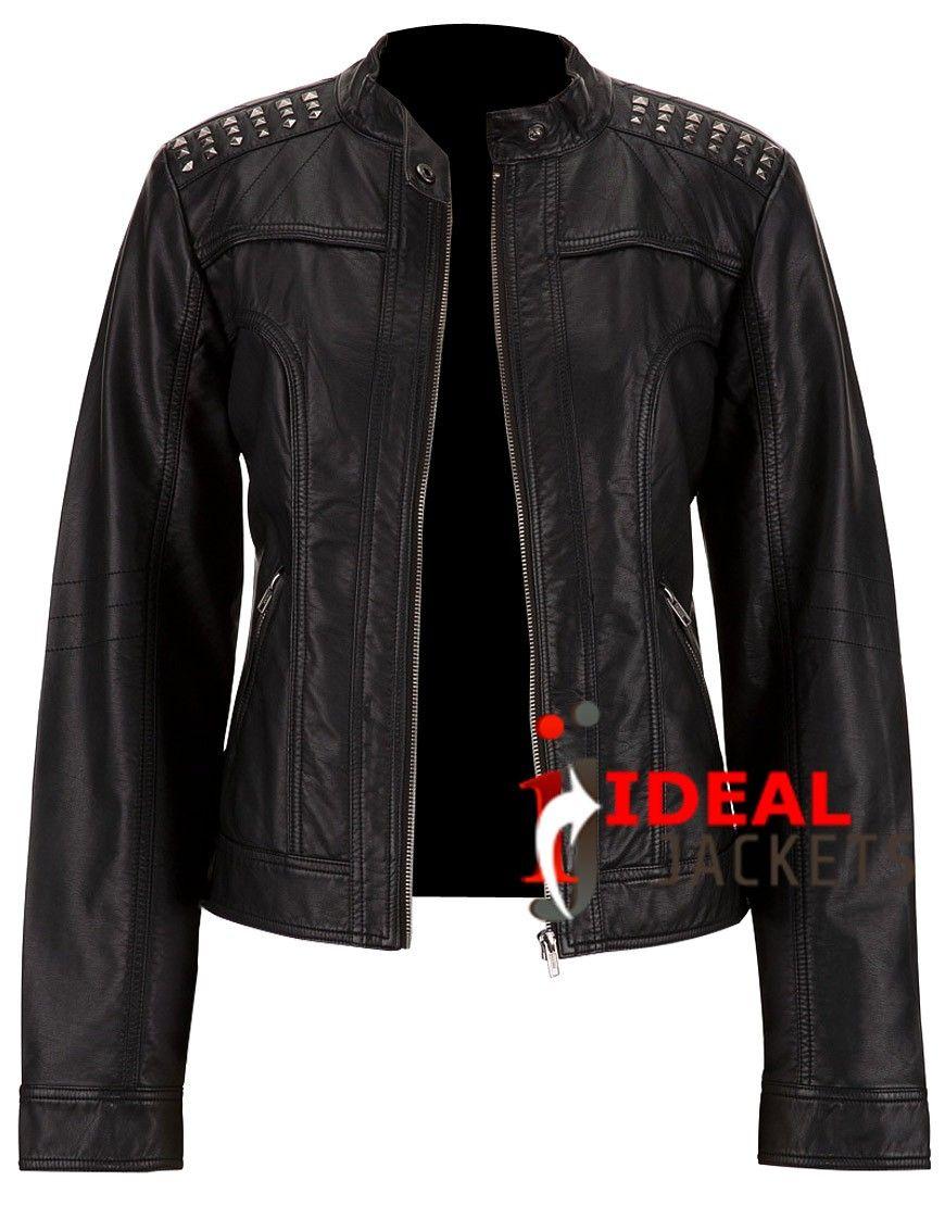 Leather jacket cost - Black Biker Babe Jacket Cost 275 00