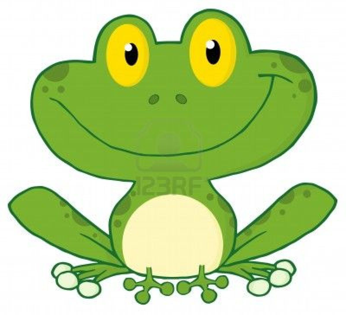 Frog Clipart Image Cute Green Cartoon Frog Happy As Can Be Frog Illustration Frog Art Cute Frogs